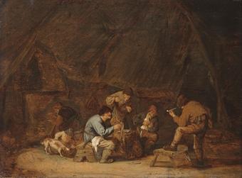 Attribue a adriaen van ostade haarlem 1610 1684 for Interieur haarlem