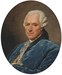 Portrait d'homme en habit bleu