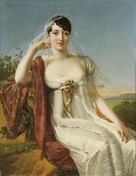 Portrait d'une dame assise dan