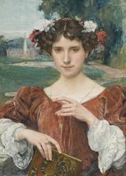 Portrait de femme à la couronn