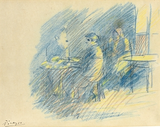 Picasso et Junyer au café