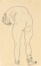 Weiblicher Rückenakt, nach vor
