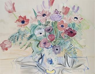 Bouquet d'anémones et de tulip
