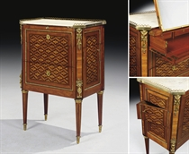 COMMODE SECRETAIRE D'EPOQUE LOUIS XVI