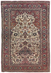 A very fine Isfahan prayer rug