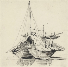 Study of a boat on the Hooghly