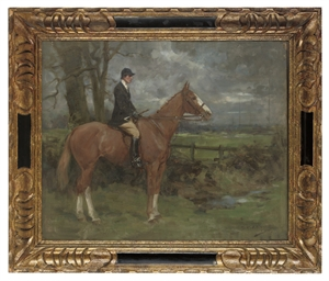 A huntsman on a chestnut horse