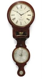 A Victorian mahogany convex wa