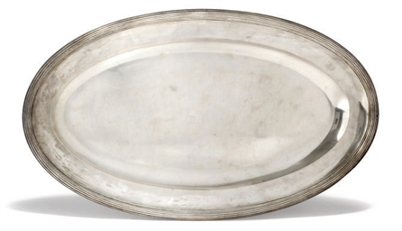 A FRENCH SILVER OVAL MEAT DISH