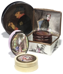 ASSORTED CONTINENTAL SNUFF BOX