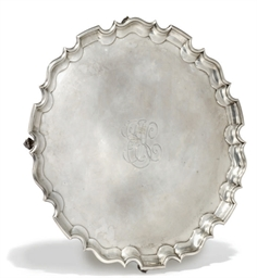 A LARGE LATE VICTORIAN SILVER