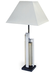 A FRENCH CHROME LAMP