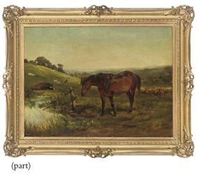 A horse watering, Keynsham, Ba
