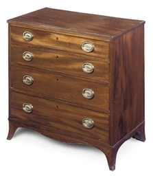 A regency mahogany four drawer