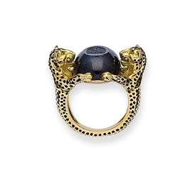 BAGUE CHEVALIERE EMAIL, SAPHIR