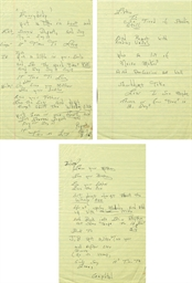 Handwritten Lyrics