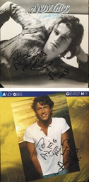 Andy Gibb Signed Albums