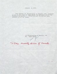 Signed Promissory Notes