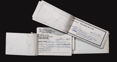 Band Receipt Book and Notes