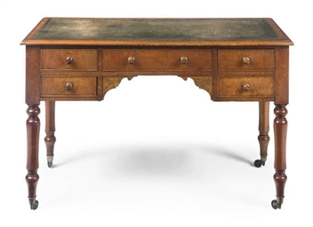 A VICTORIAN MAPLE WRITING TABL