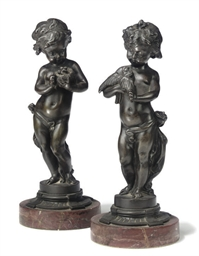 A PAIR OF FRENCH BRONZE FIGURE