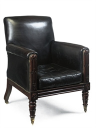 A WILLIAM IV CARVED MAHOGANY L