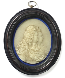 AN ENGLISH WAX DOUBLE-PORTRAIT