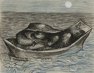 Kraken in a boat