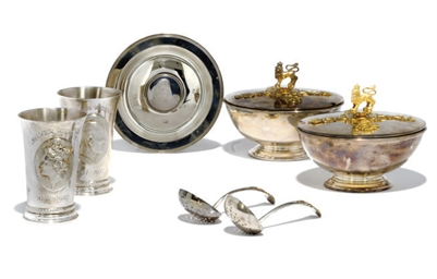 A GROUP OF MODERN SILVER AND P