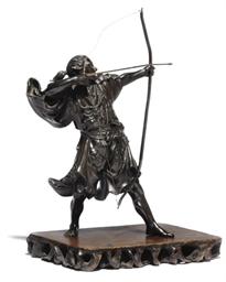 A Bronze Model of an Archer, s