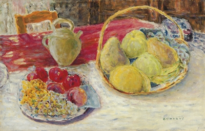Nature morte aux fruits dans l