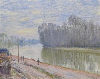 Canal du Loing, effet du matin
