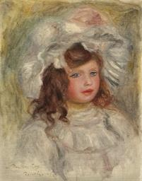 Jeune fille au chapeau (Tête d