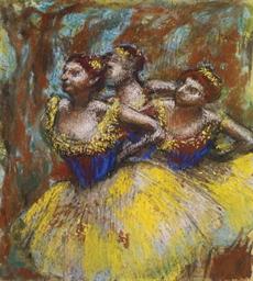 Trois danseuses (Jupes jaunes,