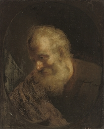 An old man, bust-length, in a
