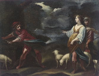 Jacob and Rebecca at the well