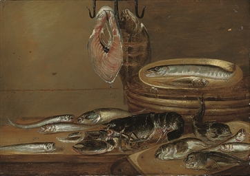 Still life with fish and a lob