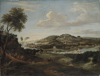 A capriccio of a coastal lands