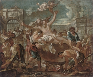 The martyrdom of Saint Ansanus