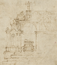 Study of an ornamented chapel