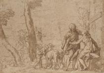 Venus begging Adonis not to go hunting