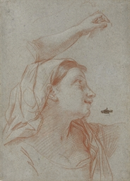 A young woman wearing a veil,
