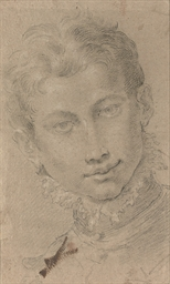A youth, bust-length, wearing