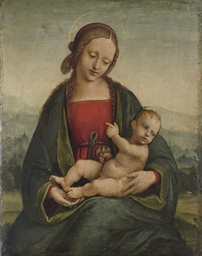 The Madonna and Child with a g