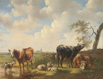 Livestock at the water's edge