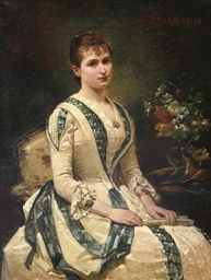 Portrait of a lady, seated, ho