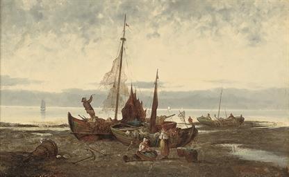 Strandpartie a Danisch kuste