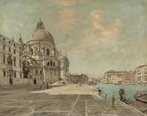 Feeding pigeons before Santa Maria della Salute