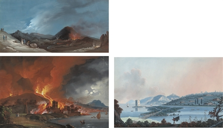 The eruption of Vesuvius on th