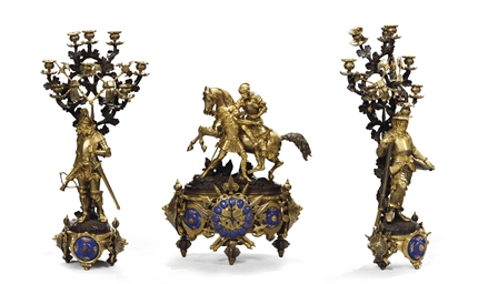 GARNITURE DE CHEMINEE D'EPOQUE